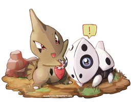 Larvitar and Aron