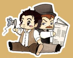 Sherlock Movie - Chibis I by Sakiko-Seihikaru