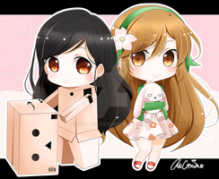 [Commish] Nicelol and Flora-belle by AuCrowne