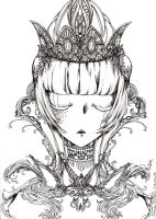 Crystal Crown uncoloured by akanotsubasa