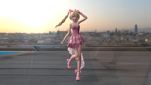MMDxBlack Butler Elizabeth Midford Party Outfit DL by LizUnderworld1