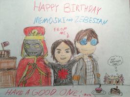 Happy Birthday Memoski and Zebesian (3) by MordecaiGTR