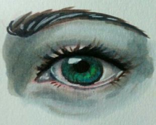Copic realistic eye practice by Blue-Fan-Girl
