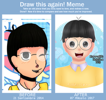 Before and after meme - Nobita by Pollito-Carmy