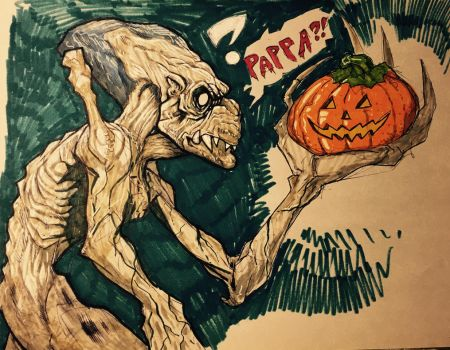 Day 1 pumpkinhead by Shayulghul