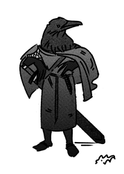 Crow with a broadsword by HAYMAKERS