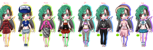 YT/Antis outfits by SepticMelon