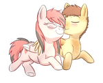 Commission: Lolly and Mocha by Foxhatart
