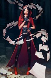 Versus Nottington - The Paper Witch by AdrianDadich