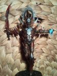 the avatar of khaine dark eldar style 3 by skincoffin