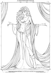Mother Gothel Lineart by Elias-Chatzoudis