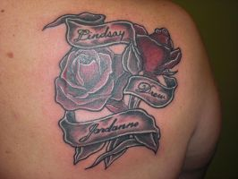 rose and banner piece by Shipht