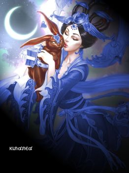 SMITE Chang'e Blue Dancer by KindredFS