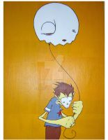 Balloon and Skullboy by emonic1