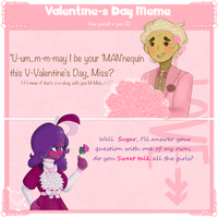V-DAY meme reply Rosaline by bluestarproduction