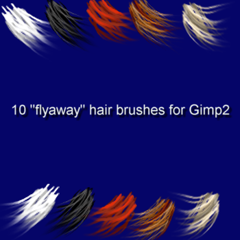 10 Gimp2 Angled HairBrushes by jddndrbz