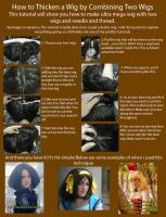 How to thicken a wig by combining two wigs by RuffleButtCosplay