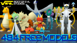 484 Free Pokemon 3D Models (+ Shinys!) [DOWNLOAD]