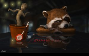 Guardians of the Galaxy by fcotriggs