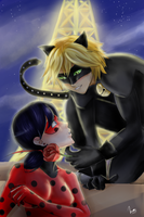 Miraculous Ladybug x Chat noir by Monchimon22
