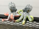 Lime and Cherry Octoids by Poofybird-Design