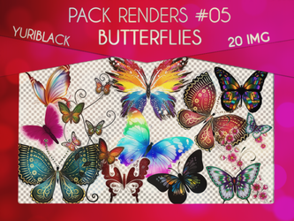 Render Pack #5 - Butterflies by YuriBlack by YuriBlack