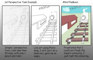 1st Perspective Task by AmTheMoon