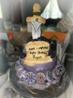 Runescape birthday cake by Being-Beyond