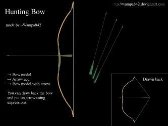 [MMD] Hunting bow and arrow models by Wampa842