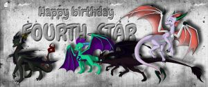 Happy B-day, Fourth-Star by BlackySpyro