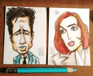 XFiles Sketchcards by Eastforth