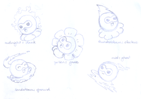Fakemon - New Castform forms by Rubii16