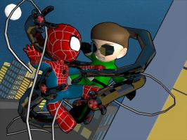 Spidey vs. Doc Ock by 3niteam