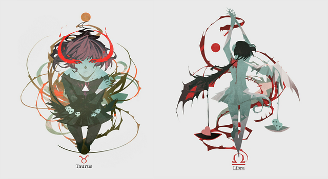 Horrorscope :Taurus/Libra by NanoMortis