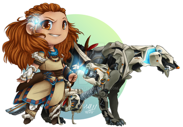 Cute mistress of mechs by Ever-Evi