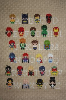 Superhero Alphabet Sampler COMPLETED by NicMarRay