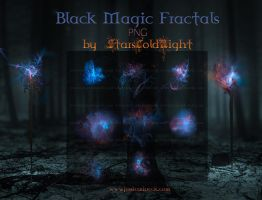 Black Magic Fractals PNG by  StarsColdNight by StarsColdNight