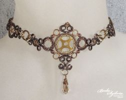 Steampunk choker necklace by bodaszilvia