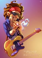 Keith Richards by ubegovic