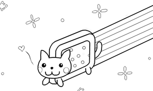 Nyan Cat Template By KIxFE 4eva