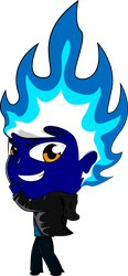 Chibi Blue Flame by Liyito