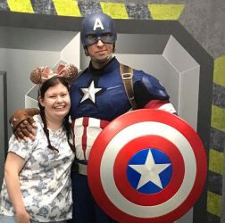 A Chloe and Captain America selfie!!!!!!!!! by chrycha