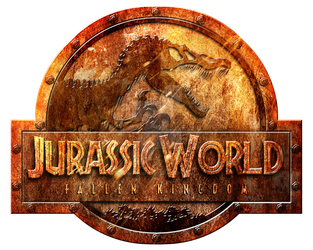 logo jurassic world fallen kingdom rusted by OniPunisher