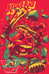KROOL-AID on red T-shirt by pop-monkey