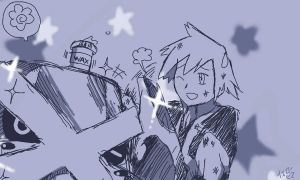 Steven and Metagross sketch by yellowhima