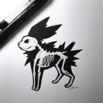 Skeletal Jolteon by WolfJayden