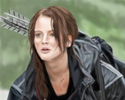 Katniss - The hunger games by Saryetta86