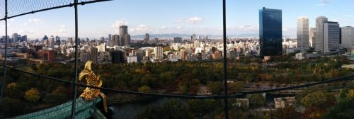 View from Osaka Castle by Figgy5119