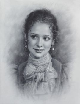 Portrait of actress Anastasia Mikulchina. by Drawing-Portraits
