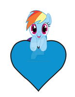 Rainbow Dash Valentine by BrittanysDesigns